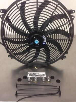 "16"" INCH Push Pull ELECTRIC Cooling RADIATOR Fan reversible 3000cfm"