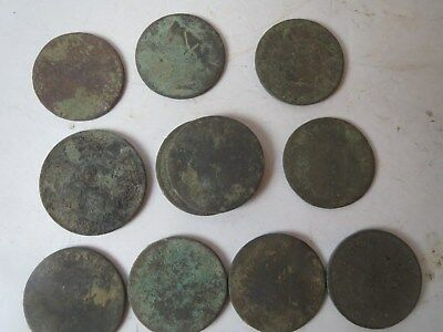 10 Roman Coins 2 Thousand Years Old  From Robin Hood Country Condition Read More