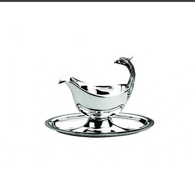 Christofle Malmaison Gravy Boat On Fixed Tray