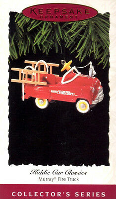 Hallmark Keepsake Ornament - Kiddie Car Classics Murray Fire Truck -1995 New