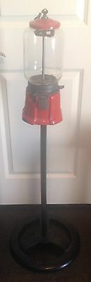 Vintage Northwestern Gumball Machine Model 33 with Cast Iron Stand