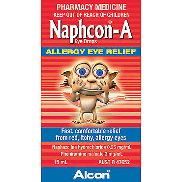 Naphcon A 15ml NEW Cincotta Chemist