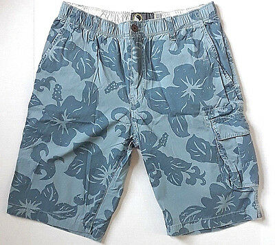 VTG 80s T&C Surf Designs Hawaii Town & Country Board Shorts Mens L Blue Floral
