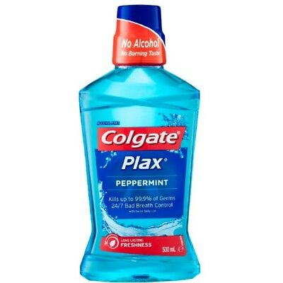 Colgate Plax Mouthwash Peppermint 500Ml NEW Cincotta Chemist