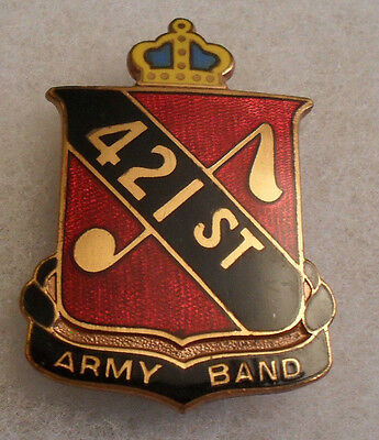 Rare 421St Army Band German Made Clutch Back