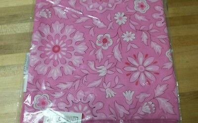 "Longaberger 36"" HOH Pink Passion Fabric Square Table Cloth Overlay - New"