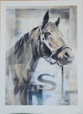 Seabiscuit fine art Giclee print signed - number by western artist Marjo Wilson