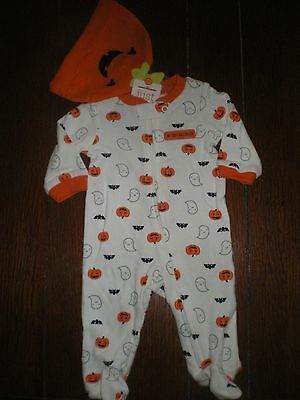 Baby Boys or Girls Halloween 2 Pc Outfit by Carters Size NB, 3M, 9M NEW Bodysuit