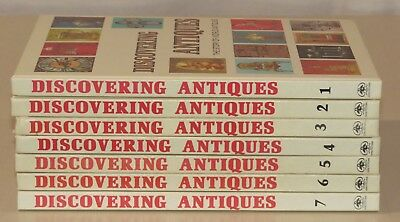 Lot of 7 Discovering Antiques, The Story of World Antiques Volumes 1-7 1972 1973
