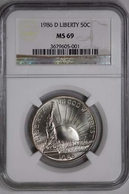 1986 D Statue of Liberty Half Dollar MS69 NGC 50c US Mint Commemorative Coin