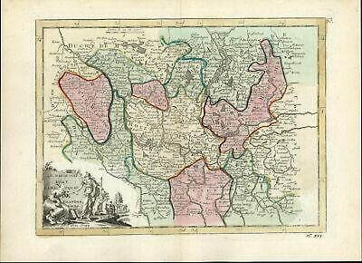 Brandenburg Berlin Northern Germany 1768 Le Rouge antique map Athena cartouche