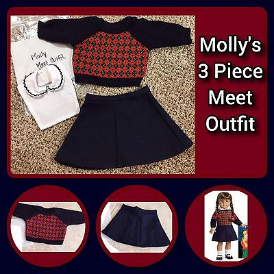American Girl Molly Meet Outfit, 3 Piece, Mint Condition, FREE Shipping