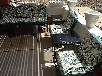 Woodard Vintage Mid Century Iron (6) Piece Patio Set