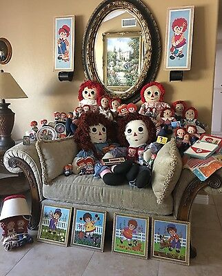 Large Raggedy Ann and Andy Doll Collection