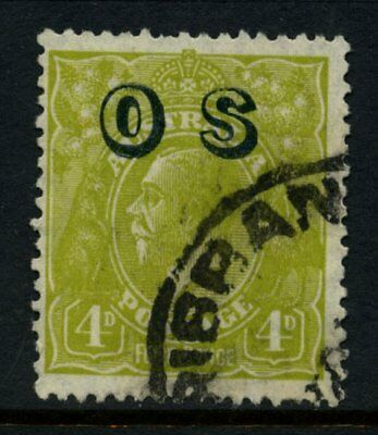 KGV Head SM Wmk Perf 13½ OP OS 4d Olive Used SG O126