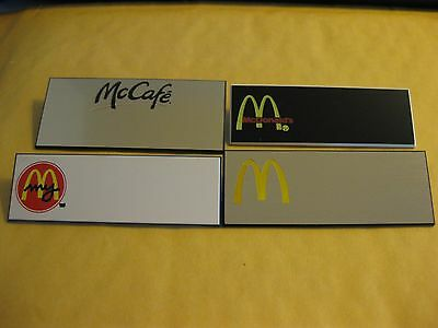 (4) different McDONALDS employee Name Tags Crew Badges! some vintage!