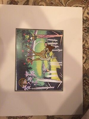1942 Bambi Serigraph Signed By Frank Thomas And Ollie Johnston