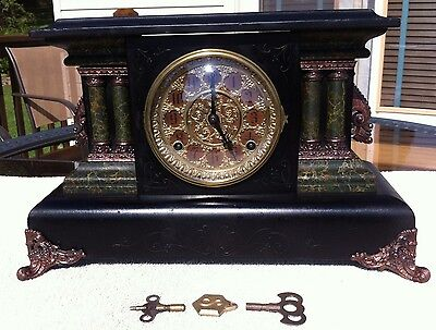 1903 Antique Sessions Welch Mantel Shelf Clock Working Great