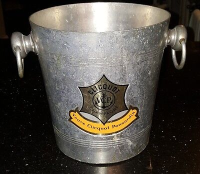 Vintage Veuve Clicquot Ponsardin Clicquot Champagne Ice Bucket. Made in France