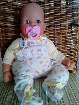 """2002 Zapf Creations 19"""" Chou Chou Baby Doll """"Mommy Make Me Better"""" giggles cries"""
