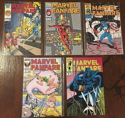 Marvel Fanfare 5 Comic Lot 26 27 31 33 60 Black Panther Story 1986 1991 VF/NM