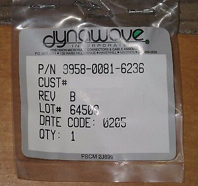 NEW Lot of 9 Dynawave SMA Field Replaceable right angle flange female Connectors