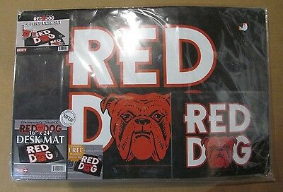 RED DOG Uncommonly Smooth Beer 4 Piece Desk Set NEW ~RARE ~ HTF! ~