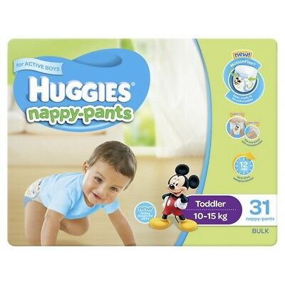 Huggies Nappy Pants Toddler Boy 10-15Kg 31 NEW Cincotta Chemist