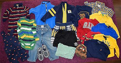 Boys 12 - 24 mo 19 piece lot Polo Ralph Lauren Nautica Baby Gap Benetton Place