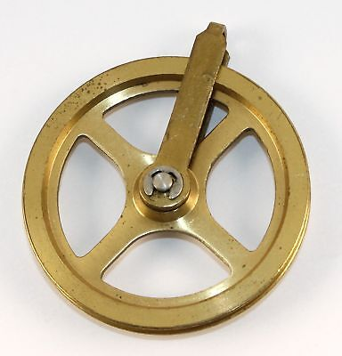 Vintage Grandfather Brass Clock Pulley  - Mtt357