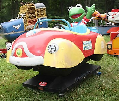 Muppet Babies Coin Operated Kermit the Frog Kiddie Ride Amusement Arcade
