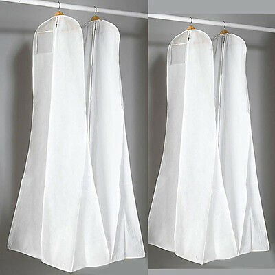 160cm Breathable Waterproof Hanging Wedding Dress Gown Storage Cover White