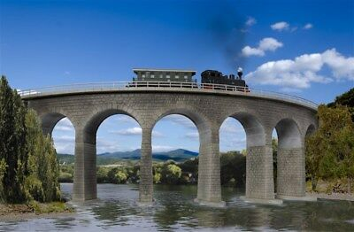 KIBRI - 37665 - N/Z Albula viaduct with ice breaking foundations, curved, single