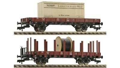 FLEISCHMANN -520956-German Stake Car Set loaded w. Cable Drums of the DB (HO SCA
