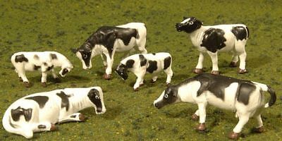 BACHMANN - 33153 - COWS - BLACK & WHITE (6pcs/pk) - O