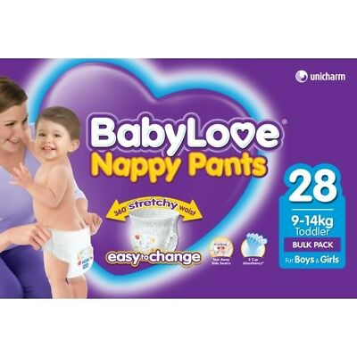 Babylove Nappy Pants Toddler 9-14kg 28 NEW Cincotta Chemist