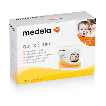 Medela Quick Clean Microwave Bags 5Pk NEW Cincotta Chemist