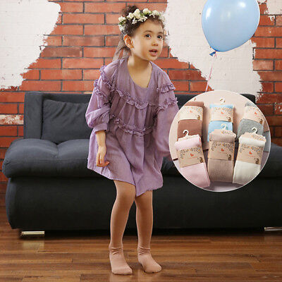 1PC Babys & Girls Knitted Tights Cotton Pantyhose Stocking Autumn 5 Colors Soft