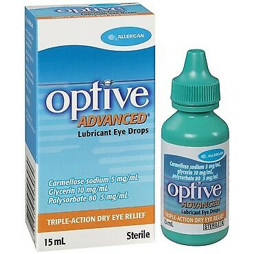 Optive Advance Eye Drops 15ML NEW Cincotta Chemist