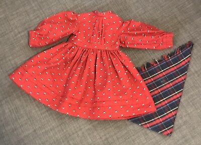 American Girl Kirsten School Dress And Scarf Set