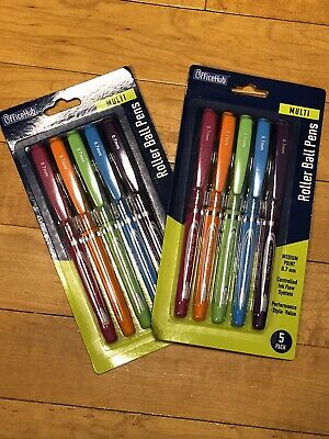 Inc R-2 Blast Rollerball Pens 0.7mm Assorted Bright neon Ink Lot of 2