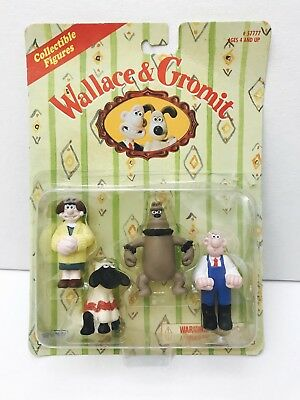 1989 Collectible Wallace & Gromit figures WENDOLENE,WALLACE,PRESTON,SHAWN