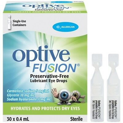 Optive Fusion Eye Drops 0.4Ml X30 NEW Cincotta Chemist