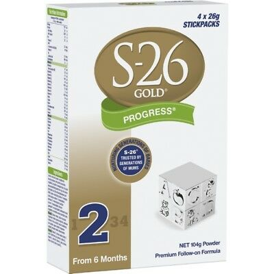 S26 Gold Progress Stickpack 4X26G NEW Cincotta Chemist