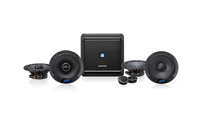 Alpine V-Power 4-Ch Amplifier and Type-S Front and Rear Speakers
