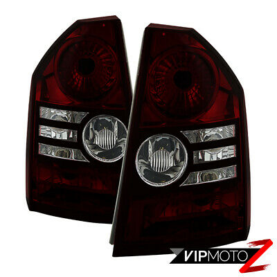 """[Rosso RED SMOKE]2008-2010 Chrysler 300C SRT8 """"Factory Style"""" Tail Lights Lamps"""