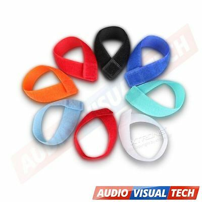 6x Reusable Strapping Ties / Straps Cable Tape Tidy Wrap Wire Hook & Loop