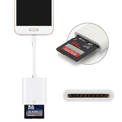 2 in 1 Lightning to Kartenleser SD Card Adapter für iPad iPhone & Android