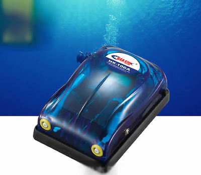 Ultra Quiet Fish Tank Aquarium Single/Double Outlet Efficient Oxygen Air Pump