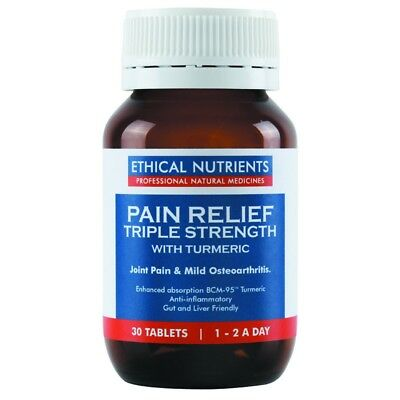 Ethical Nutrients Pain Relief Triple Strength Tablets 30 NEW